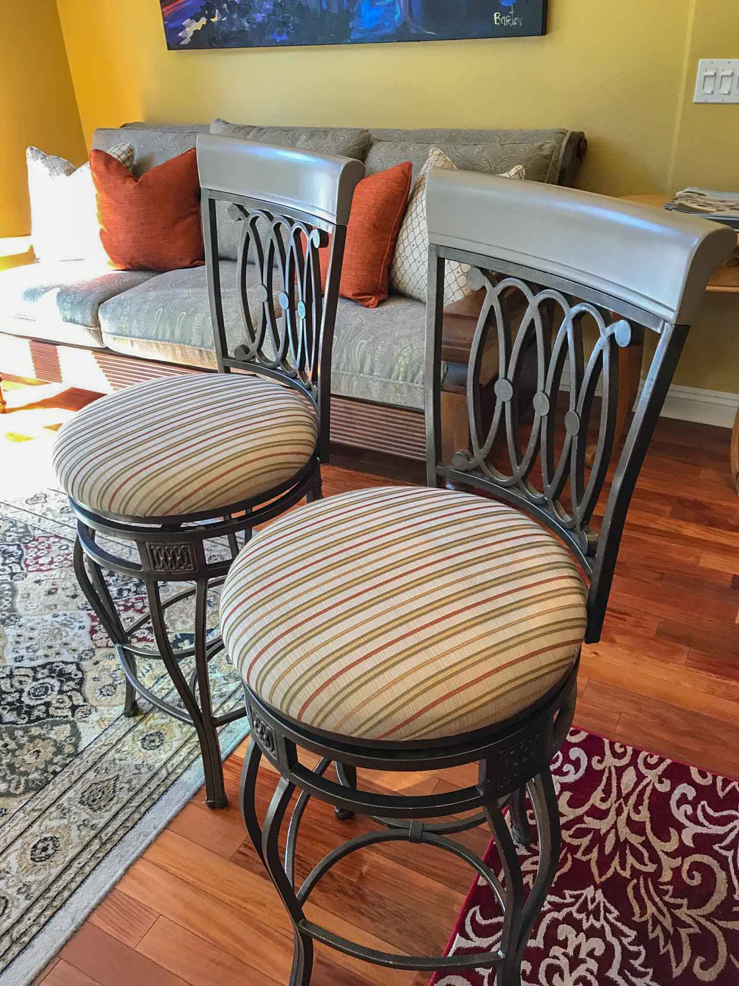 Bar Stool Reupholster And Refinish Restoration Reupholstery