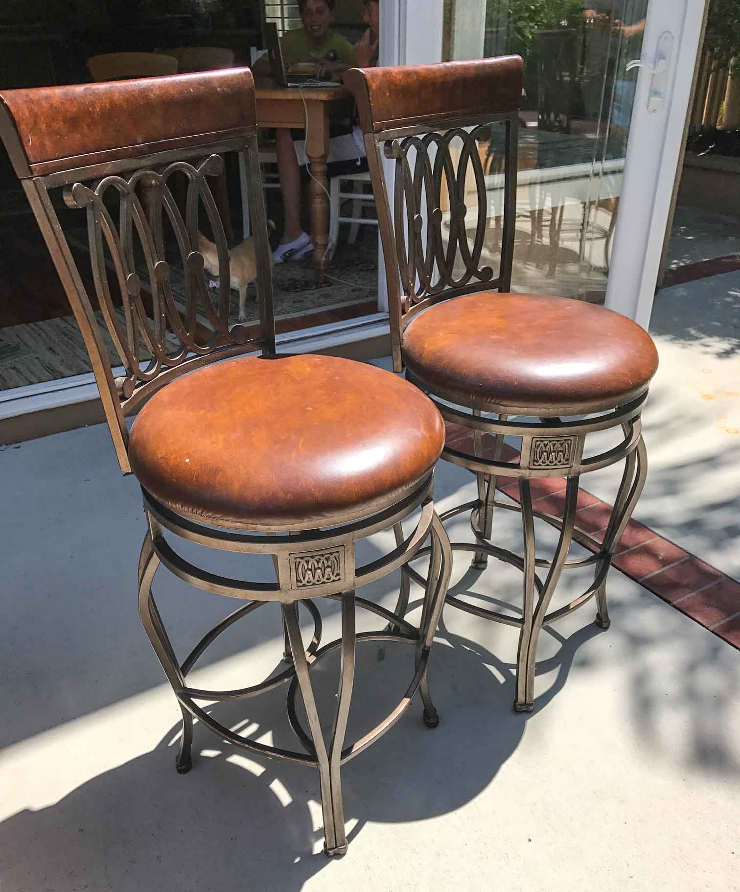 Bar Stool Reupholster And Refinish